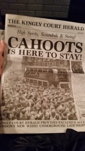 Cahoots newspaper