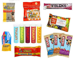 selection of energy snacks