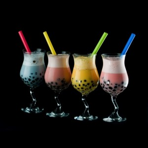 glasses of bubble tea
