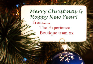 Experience Boutique Merry Christmas message