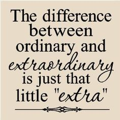 quote about being extraordinary