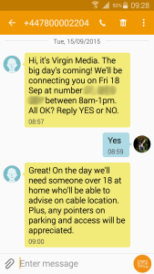 screenshot of text from Virgin Media